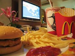 ( GUM ) Tags: hotel tv airport dubai chips mcdonalds doha qatar cokacola mcchicken