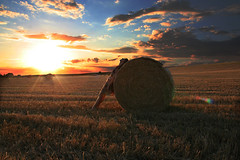 Rolled Gold (sosij) Tags: sunset selfportrait field straw bales hitchin 1on1 1on1sunrisesunsets twtme mywinners abigfave diamondclassphotographer flickrdiamond applogiesihurriedlyuploadedthembuthavenowemphasisedthegloriousskyinthisone