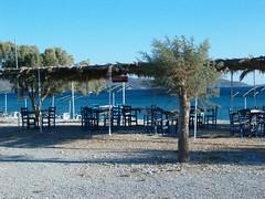 Fine stagione (Aucune) Tags: sea summer beach table chair mare estate greece grecia sedie spiaggia tavoli