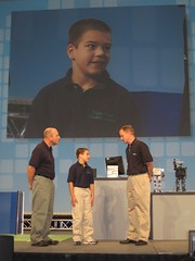 Samuel Majors, his father, and Ray Almgren at NIWeek 2007 Keynote