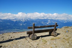 Innsbruck and bench