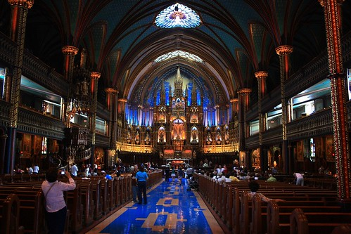 NotreDame Basilica in Montreal
