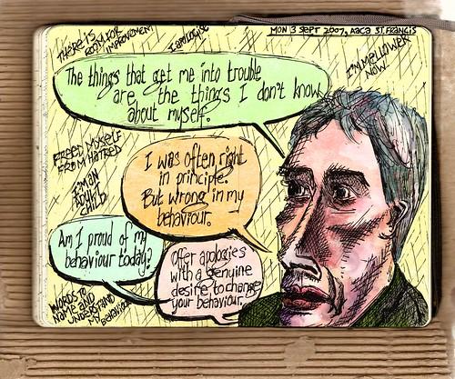 2007-09-04 Apologies — a Monday Night at AACA