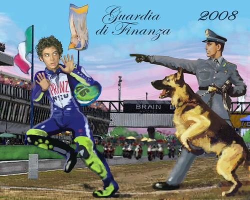 Vale Rossi sul calendario Gdf '08