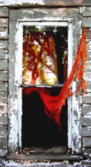 tattered (McMorr) Tags: old family orange white house abandoned home window rural decay farm country neglected eerie spooky forgotten weathered disused homestead discarded forsaken deserted abused tattered sheer fallingapart deterioration creativenonfiction mcmorr