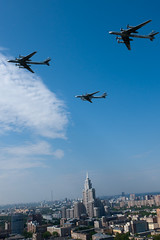 Three Tu-95MS over Moscow during the Moscow Victory Parade 2010 (RIN&RBI) Tags: bear moscow tupolev  rbi tu95  triumphpalace  95 95 moscowvictoryparade2010