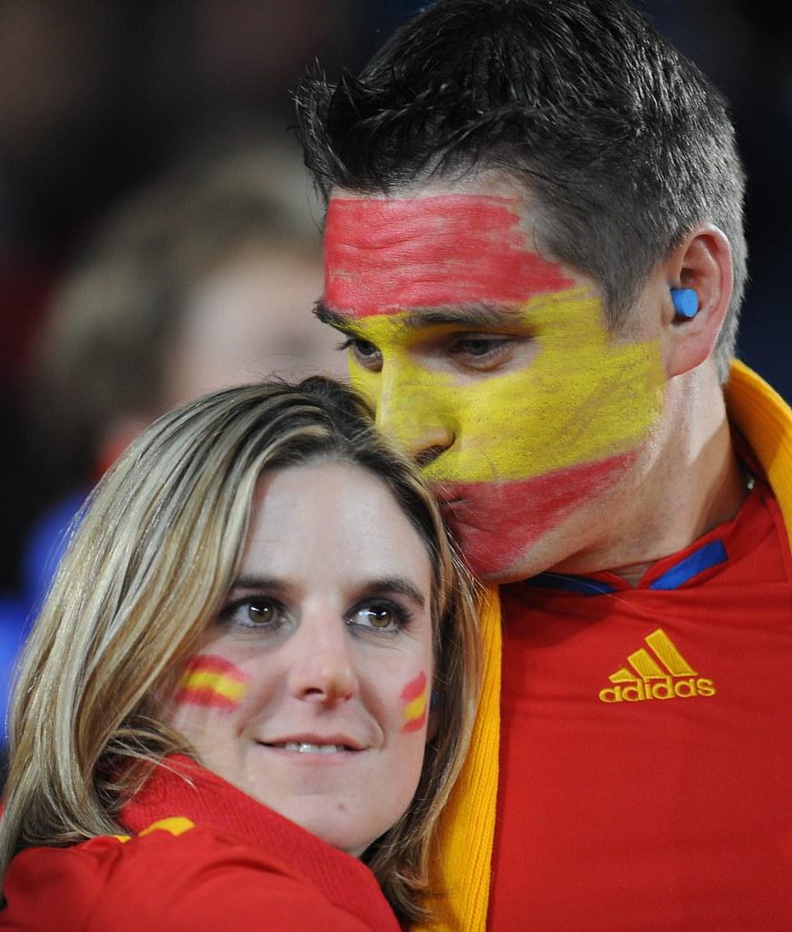 Hinchas pareja Mundial Sudáfrica España