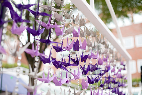 Cranes and Crystals Altar wedding purple ceremony diy 5116310827