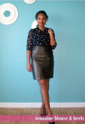 Closet Raid: How To Wear a Leather Skirt at Work - Closet Confections