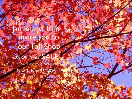 Fall Shop Sale