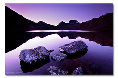 Dove Lake, Cradle Mountain, Tasmania (Matthew Stewart | Photographer) Tags: sky mountain lake snow reflection sunrise rocks dove australia tasmania cradle 2010 photos1