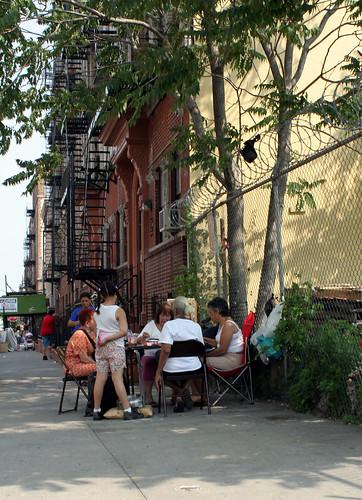 Sidewalk sitting room