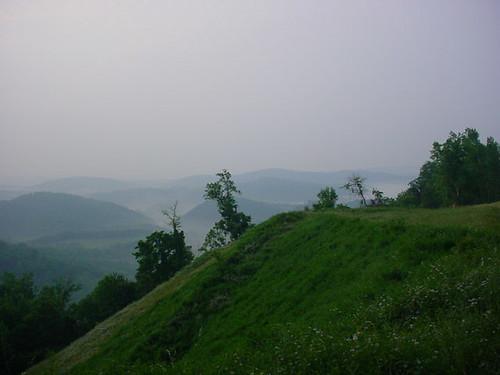 Hazy Mountain Morning