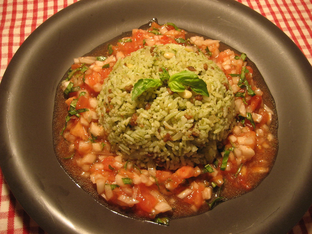 Basil Fried Rice with Salsa