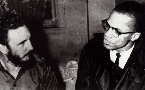 Malcolm X and Fidel Castro