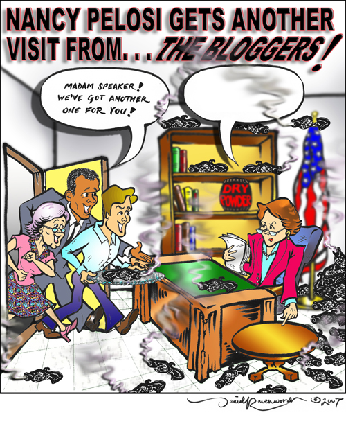 Bloggers Visit Pelosi 500 pixels by David Ravenwood