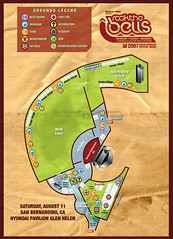 Rock The Bells Festival 2007 - San Bernardino Map