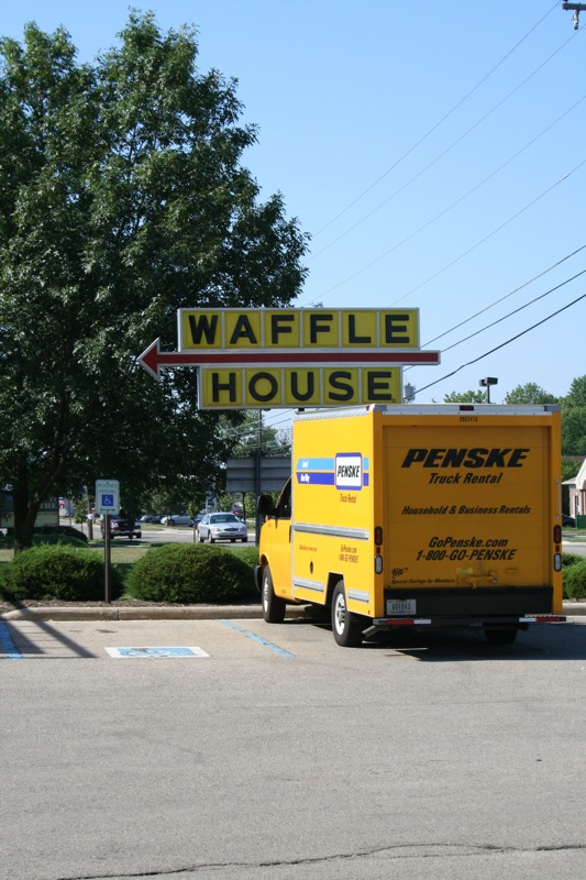 Waffle house and truck