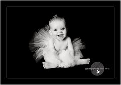 Ballerina Girl (the portrait place {alecia silva}) Tags: portrait blackandwhite baby girl face studio happy ballerina joy session tutu sessions nicholevansactions theportraitplace