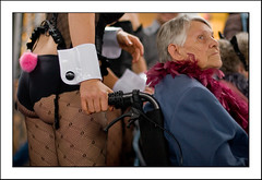 Back Support (vapours) Tags: party ass switzerland europe wheelchair zurich bum 50mm14 trainstation rave canon30d zurichtrainstation zurichhauptbahnhof