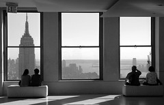 Top of the rock (noamgalai) Tags: new york city nyc sky people urban blackandwhite bw ny newyork building window buildings photography photo downtown view state picture rockefellercenter center photograph esb empire empirestatebuilding rockefeller topoftherock allrightsreserved צילום תמונה photomania נועם noamg noamgalai נועםגלאי גלאי wwwnoamgalaicom כלהזכויותשמורות צלםמקצועי צלםספורט