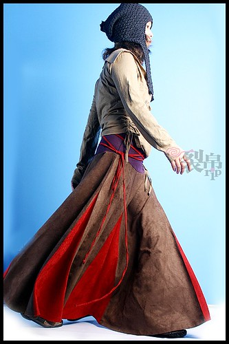 Tibetan winter suede skirt : Asian iCandy Store, Unique Asian Arts and Gifts From Independent Artists