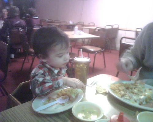Benji wants Dusty's food