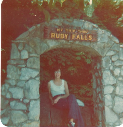 Mom at Ruby Falls