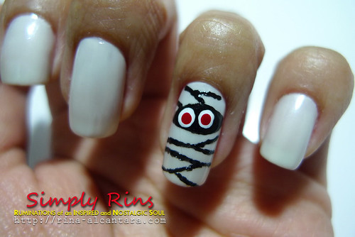 Nail Art Halloween Mummies 03