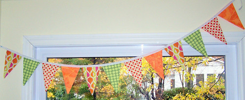 Fall Colors Fabric Bunting