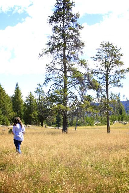 Anna at Yellowstone