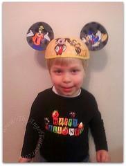 Wearing his Disney World hat