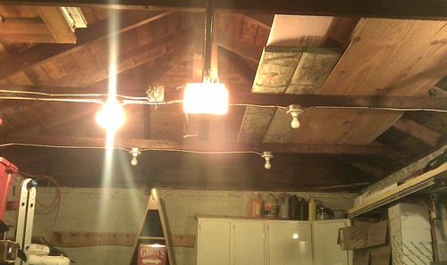 I Am Just Wondering On How People Have Mounted T8 Light Fixtures In A Garage  That Has Open Rafters. Here Is What My Garage Looks Like.
