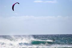 Kite Surfers (Emily Miller Kauai) Tags: hawaii waves northshore kauai kitesurfer keebeach