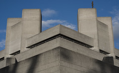 Monolith (thegareth) Tags: sky statue concrete southbank gormley gormleystatue