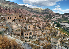 Cavusin ghost town (Timothy Neesam (GumshoePhotos)) Tags: abandoned rock turkey village geology timothy cappadocia cavusin neesam photomatix
