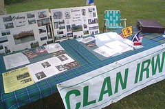 Clan Irwin table display
