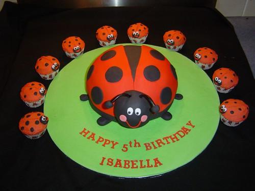 ladybug cupcake