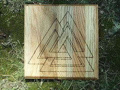 Odin altar tile (dragonoak) Tags: altar nordic pagan asatru valknut dragonoak