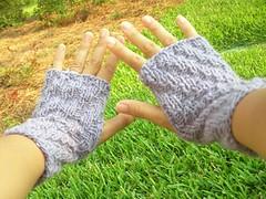 Last minute wrist warmers