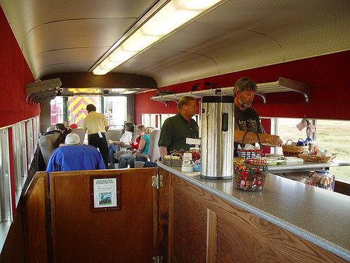 Parlor car on the Highnote Express