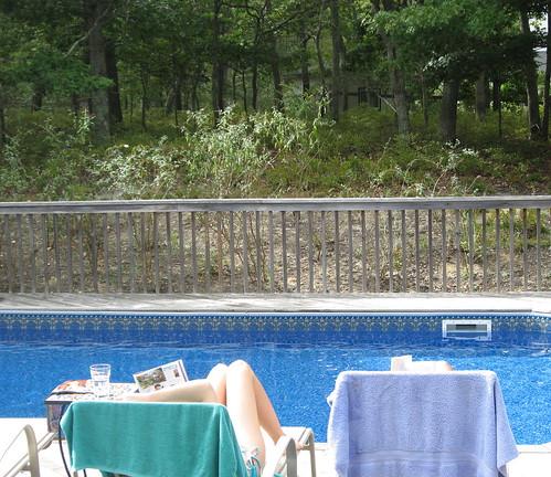 Relaxing Poolside, Hamptons 2007