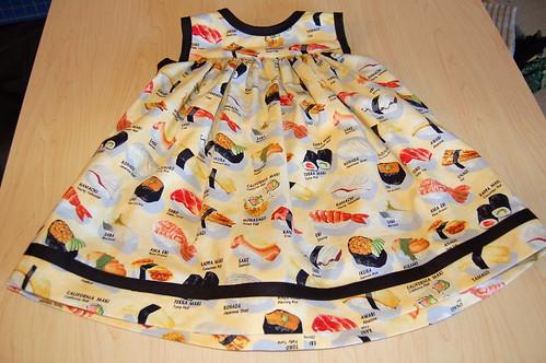 Girl Dressed as Sushi Basic Little Girl's Dress