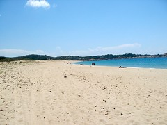 Traversée de la plage de Tradicetta