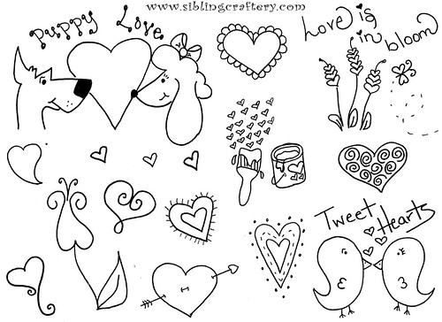 Valentine Embroidery Patterns by mindboggld.