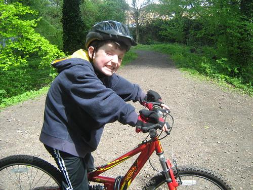 Bo on his birthday bike