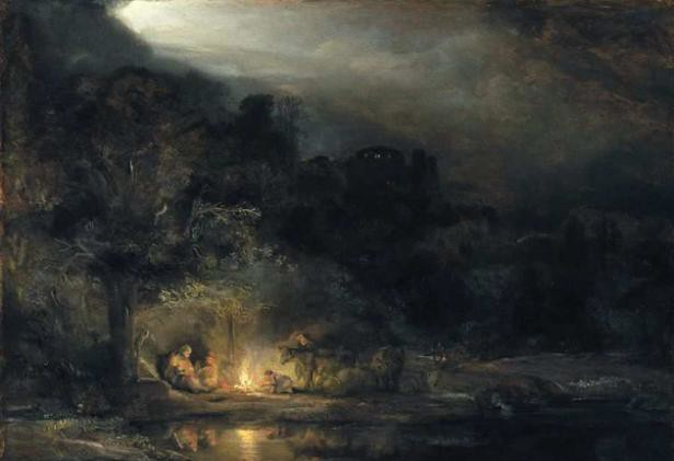 Rembrandt - Landscape with the rest on the flight into Egypt