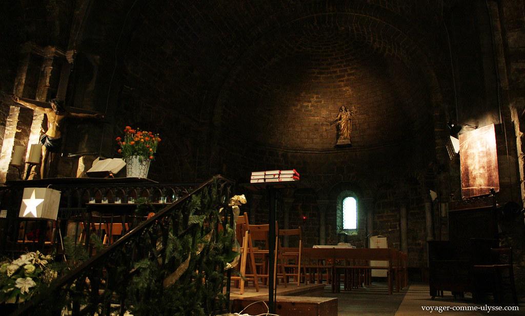 Nous sommes dans une église fortifiée