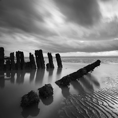 Nornen Ribs (Adam Clutterbuck) Tags: uk greatbritain sea england blackandwhite bw reflection beach water monochrome square mono blackwhite sand mud unitedkingdom britain somerset bn severn shipwreck elements ribs gb ripples bandw wreck sq barque greengage berrow nornen adamclutterbuck sqbw bwsq showinrecentset thenornen