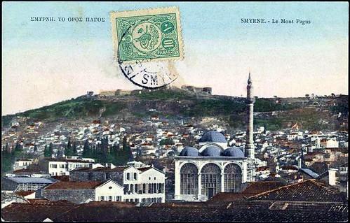 Karpostallarda yangından önce İzmir, Kale